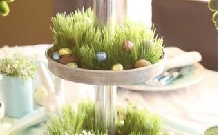 easter table centerpiece three tiered stand, painted furniture