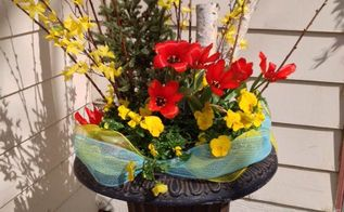 from winter container to spring container