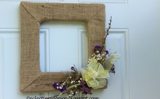 square spring wreath, crafts, wreaths