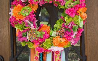 spring fiesta wreath, crafts, wreaths