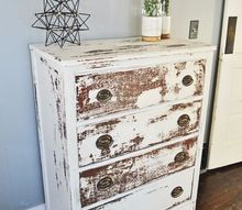 amazingly chippy dresser, painted furniture