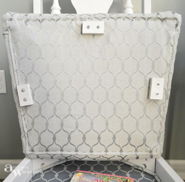 refurbished chair with added storage under the seat, storage ideas