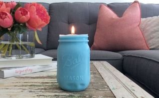 mason jar candles, mason jars
