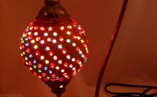 how to add beads to a gourd lamp, how to, lighting