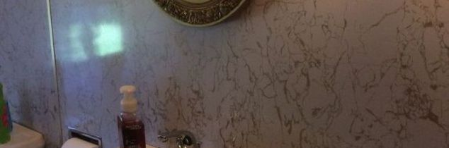 q can i paint this 70s style bathroom wall, bathroom ideas