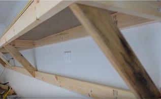 self supporting shelves heavy duty for garage shed workshop, garages, outdoor living, shelving ideas, Finished