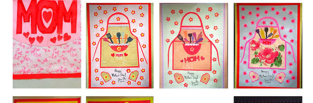 e home made mother s day collage anyone, home decor, seasonal holiday decor, valentines day ideas