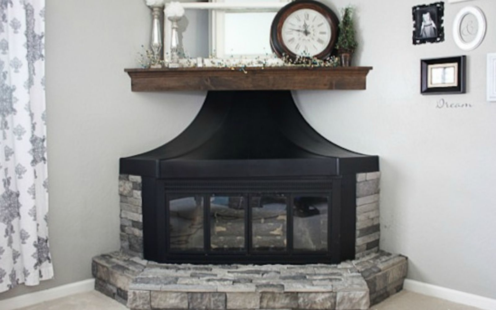 s 11 impressive ways to update your home with stone, concrete masonry, home decor, Update a standard brick fireplace