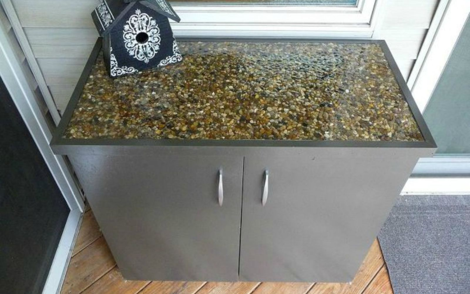 s 11 impressive ways to update your home with stone, concrete masonry, home decor, Dress up your cabinet countertop