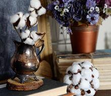 faux cotton boll ball