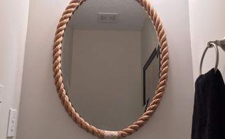 rope mirror frame, home decor