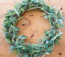 diy simple greenery wreath, crafts, wreaths