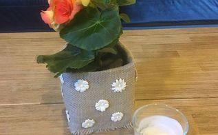 milk carton turned into a planter, gardening
