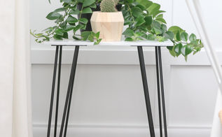 diy marble plant stand out of old tile, flooring, gardening, tiling