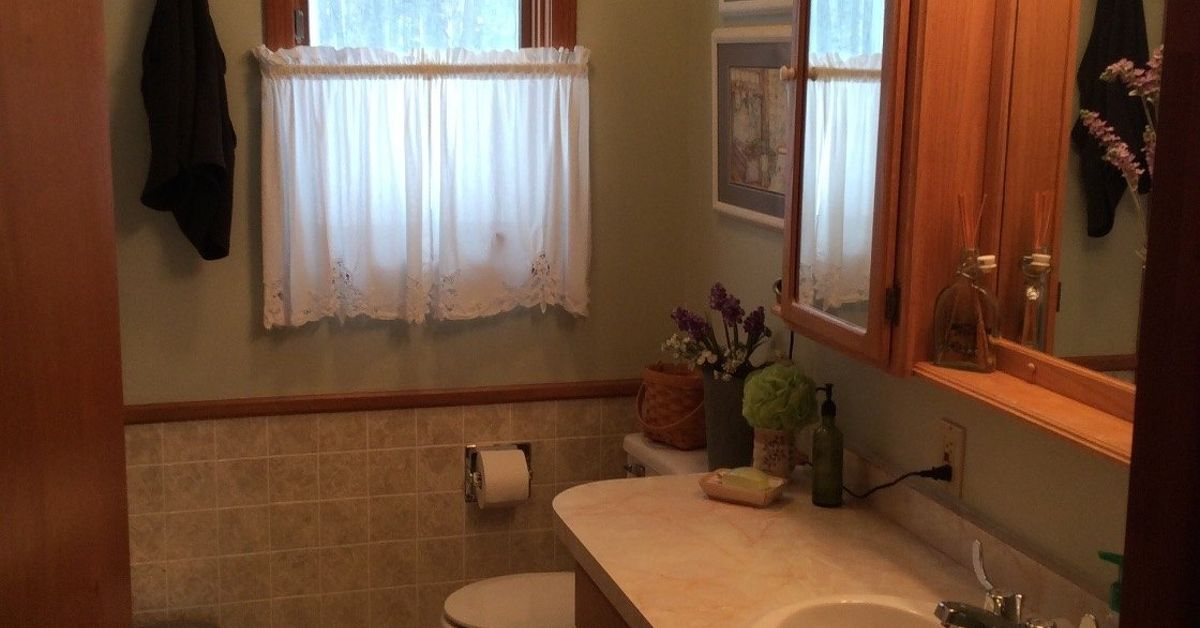 Bathroom Beadboard how high do i go with bead board in small bathroom? | hometalk