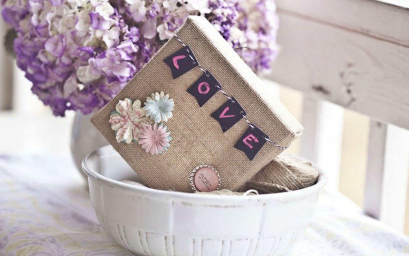 s save your bottle caps for these x crazy cool ideas, A delicate touch to burlap canvas art