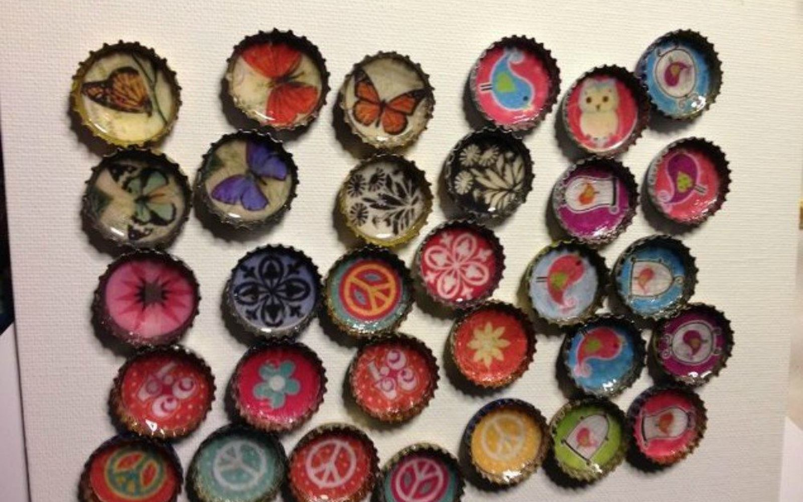 s save your bottle caps for these x crazy cool ideas, A steampunk magnet