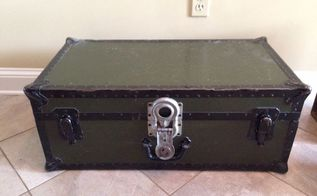 repurposed vintage trunk