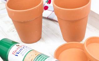 turn those dab terra cotta pots into farmhouse fab in minutes