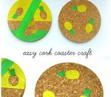 diy pineapple coasters