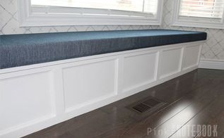 diy built in window bench, closet, outdoor furniture