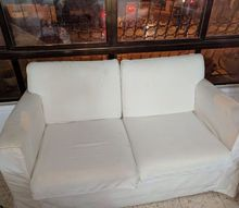 q reuse ikea sandby couch, painted furniture