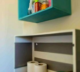 Repurpose Drawers Into Eclectic Shelves