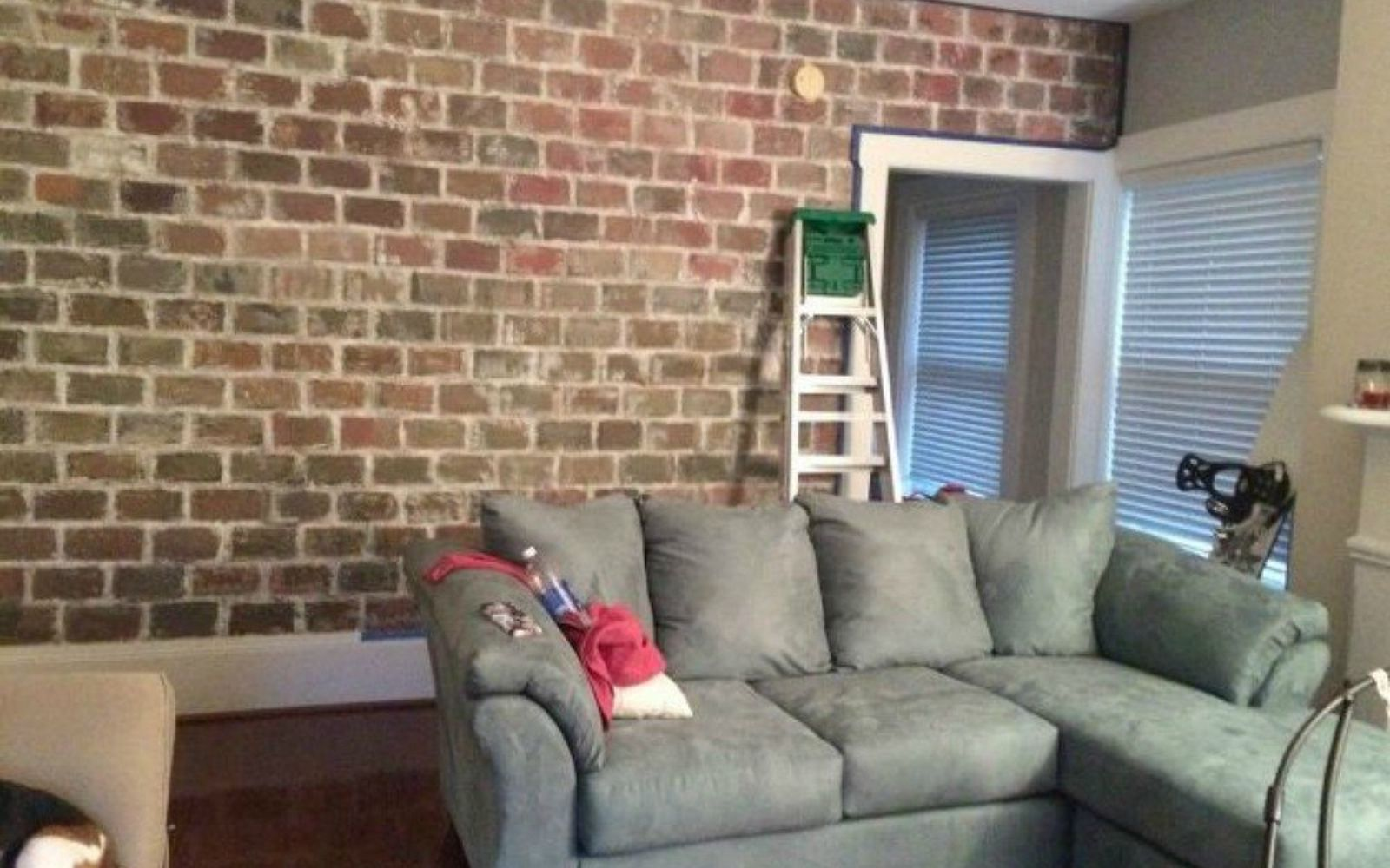 s 12 stunning ways to get that exposed brick look in your home, Use a paint mixture to create a brick effect