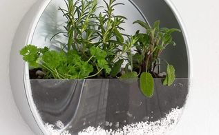 baking tin herb planter