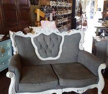 vintage settee redo