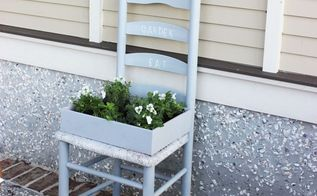 create a garden from a chair