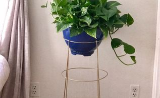 turn a tomato cage into a plant stand