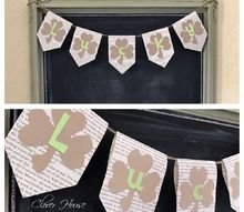 e crafternoons st patrick s day lucky shamrock banner