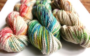 how to speckle dye yarn with kool aid