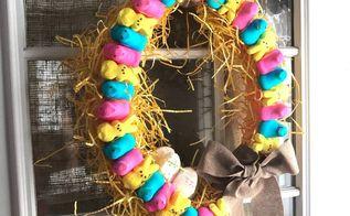 peeps spring wreath
