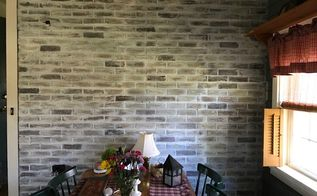 redoing faux brick wall