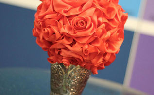 ribbon roses and topiary