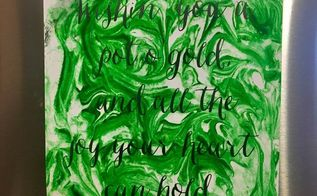 marbleized st patrick s day sign