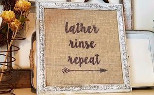 15 minute diy bathroom picture, My lather rinse repeat BOHO bathroom sign