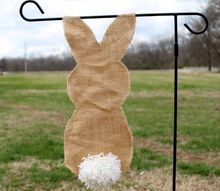 burlap bunny flag for your garden