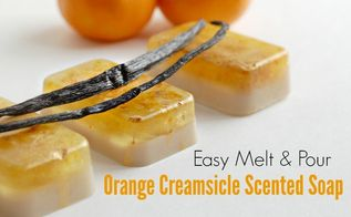easy melt pour orange creamsicle scented soap
