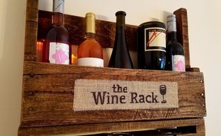 5 minute diy wine rack burlap sign, DONE My new rustic sign for my wine rack