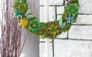 faux succulent wreath and diy wreath stand
