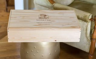 wine crate planter box