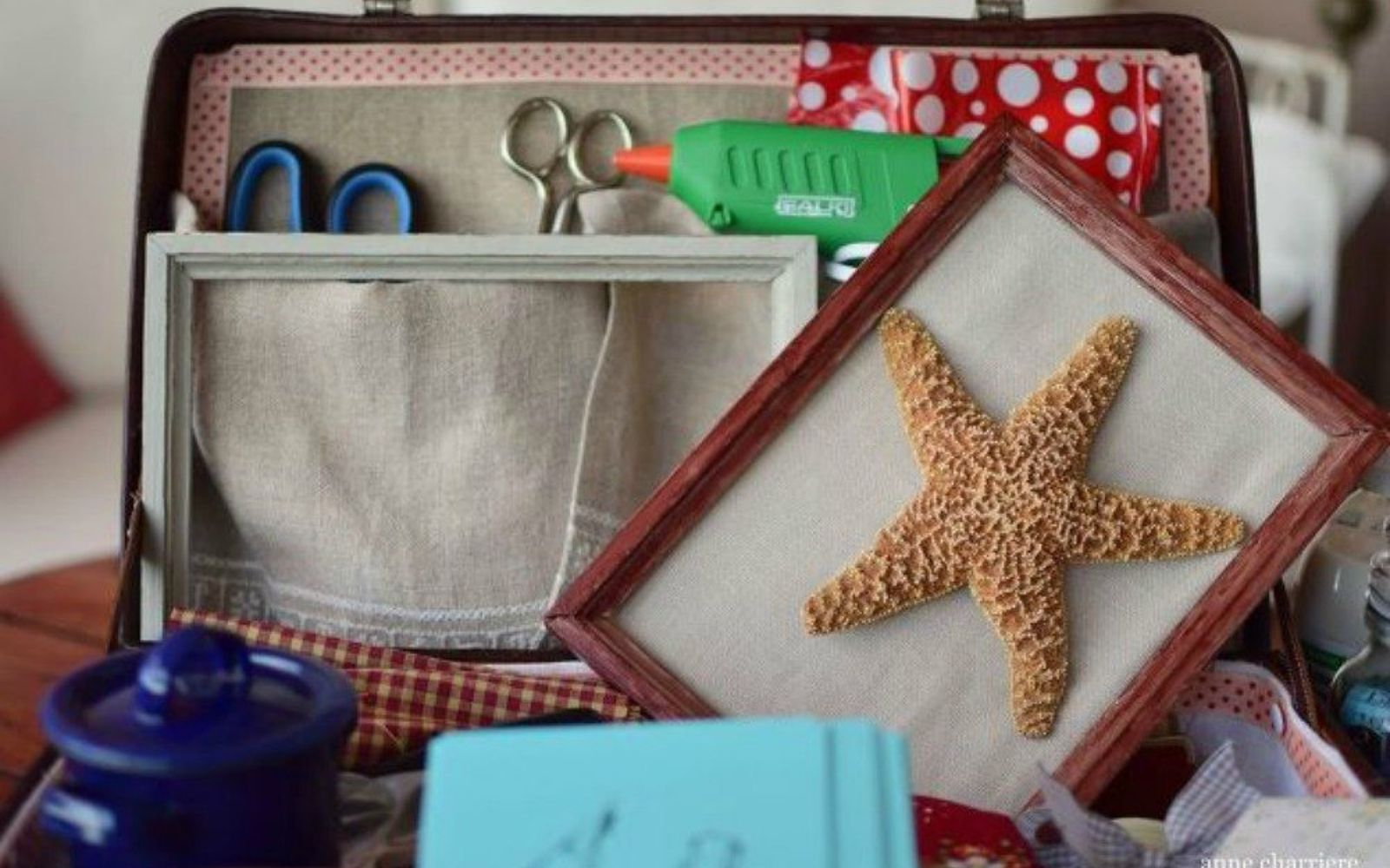 s don t throw out your old suitcase before you see these 15 clever ideas, Upcycle it into a vintage craft box