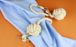 diy nautical curtain tie backs monkey fist knot