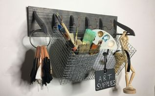 repurposed hanger wall hooks