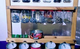 organizer for screws from jars and metal cans