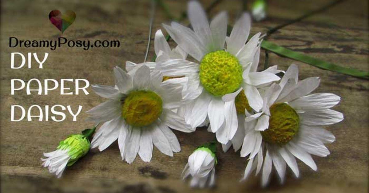 Easy To Diy Realistic Paper Daisy Flower Hometalk