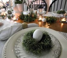 easy super cheap diy moss nests for easter